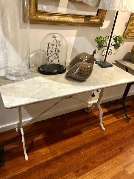 Bistro table marble top