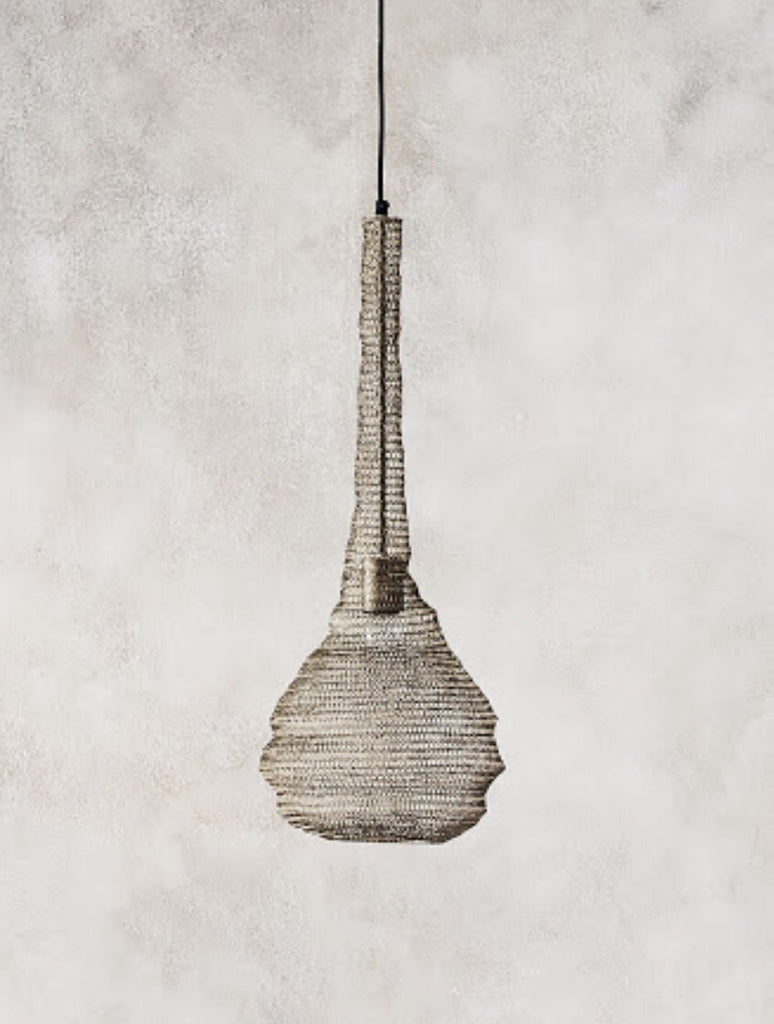 Mesh pendant light gold Sara LOW STOCK