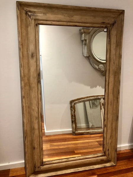 French timber tall mirror