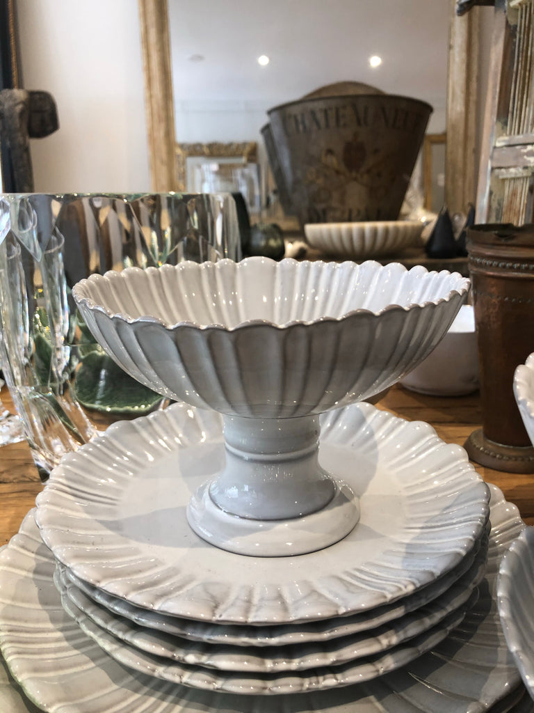 Fluted footed bowl