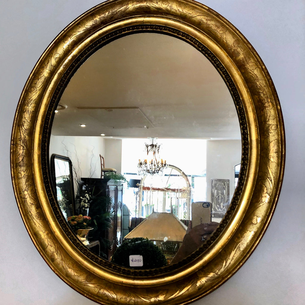 Mirror gilt french oval
