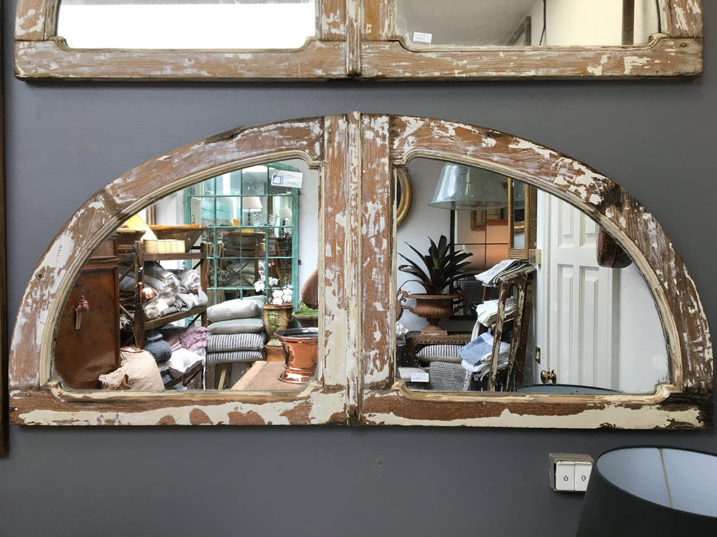 French arched timber mirrors
