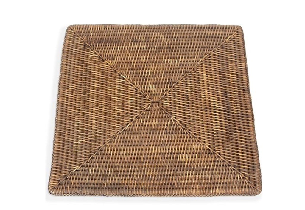 Placemat rattan square vintage brown