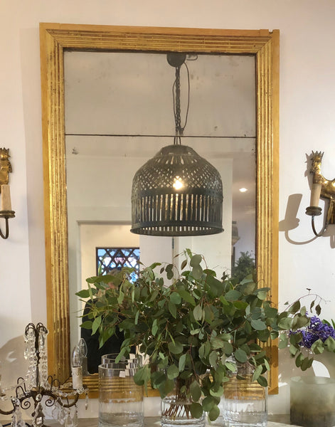 French gilt reeded mirror ON HOLD