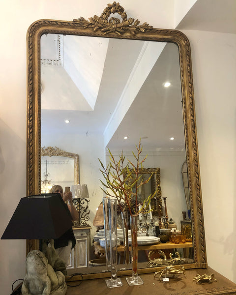 French 19thC mirror H200