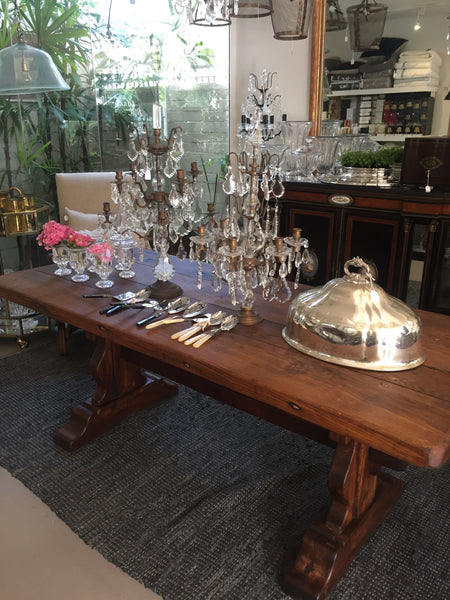 Refectory table french