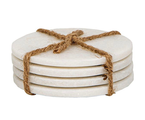 Marble coasters white