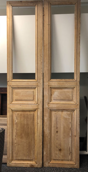 Double timber doors france