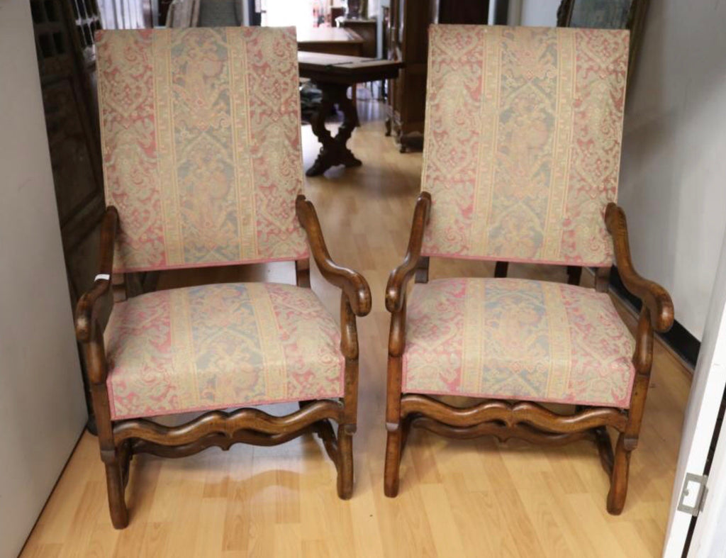 Chair Arm french Os de Mouton pair