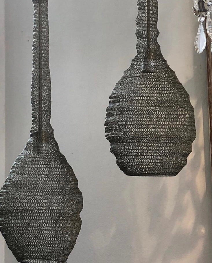 Mesh pendant light Sara black LOW STOCK
