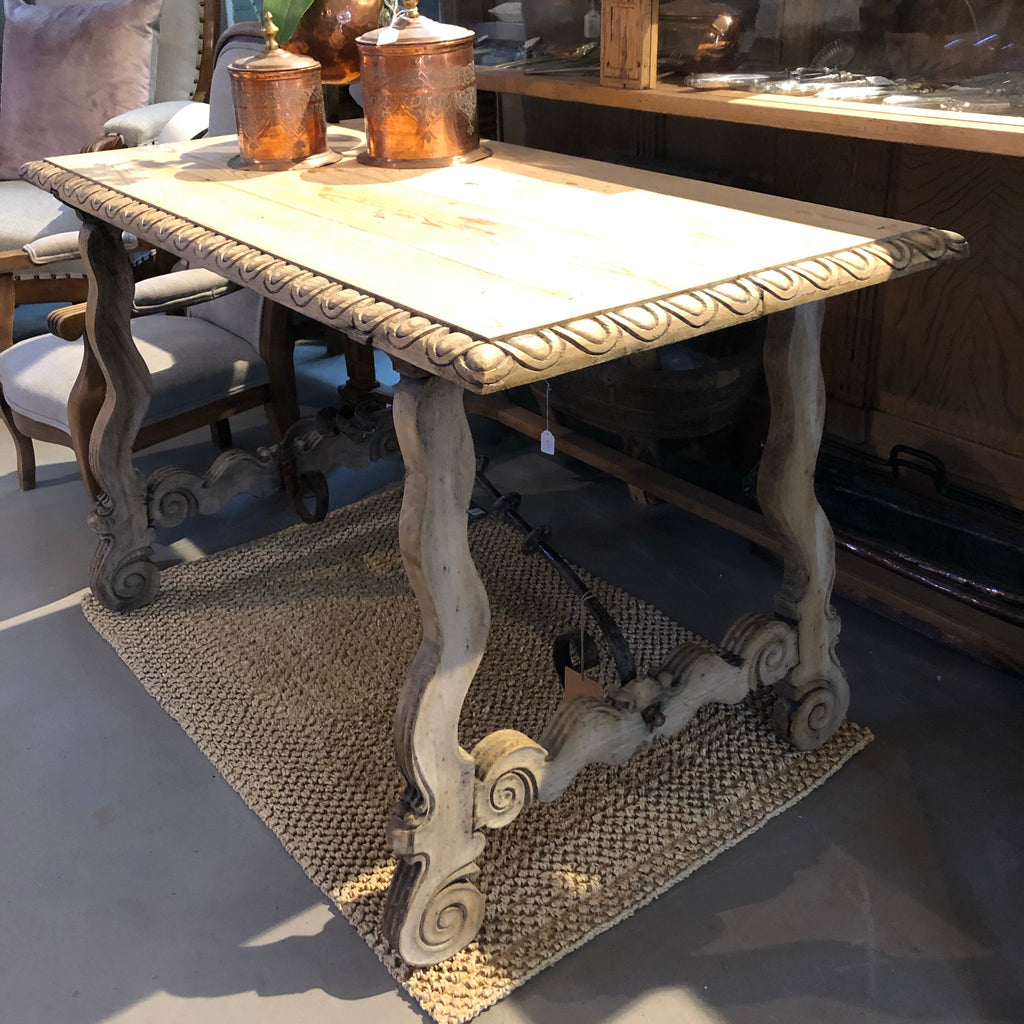 Spanish bleached oak side table