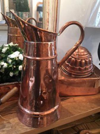 Copper French antique jug