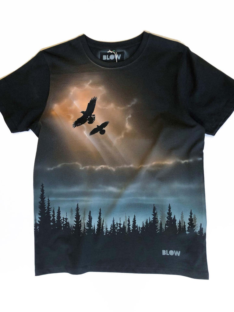 WINTER DAWN (colour) - Unisex premium short sleeve t-shirt