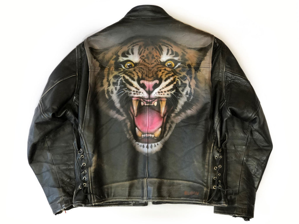 ROAR - Upcycled mens leather jacket - BLOW London