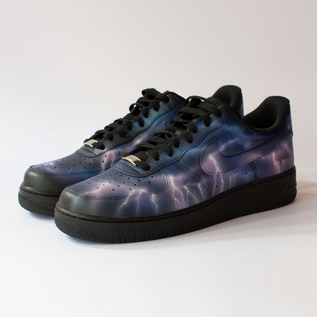 ELECTRIC STORM - Customised Nike Air Force 1 Low - BLOW London