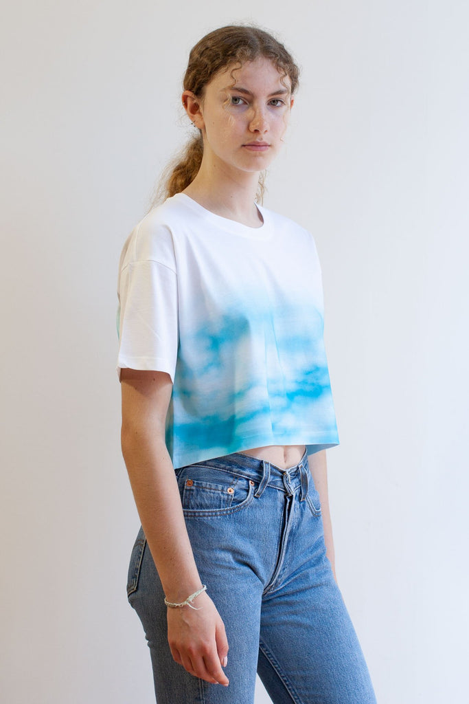 CLOUD9 - Women's cropped loose fit t-shirt - BLOW London
