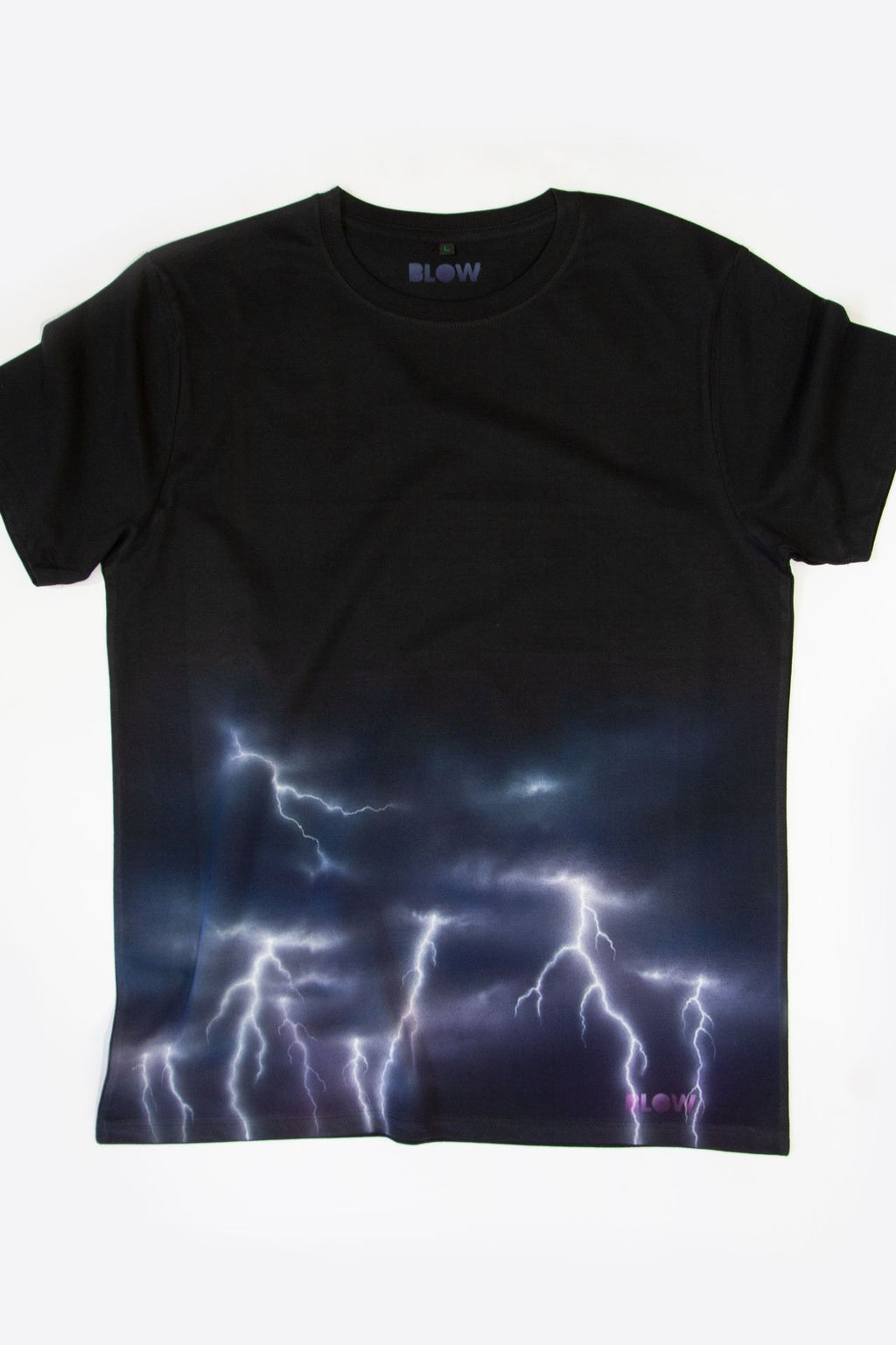 ELECTRIC STORM (Black) - Unisex premium short sleeve t-shirt - BLOW London