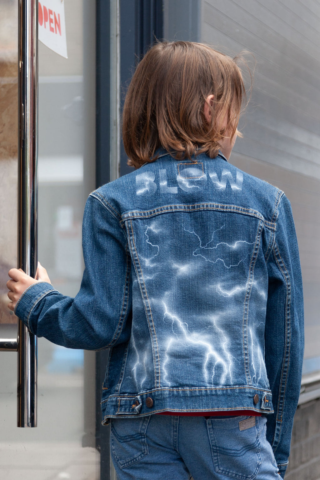 LIGHTNING STORM - Personalised kids Levi's trucker jacket