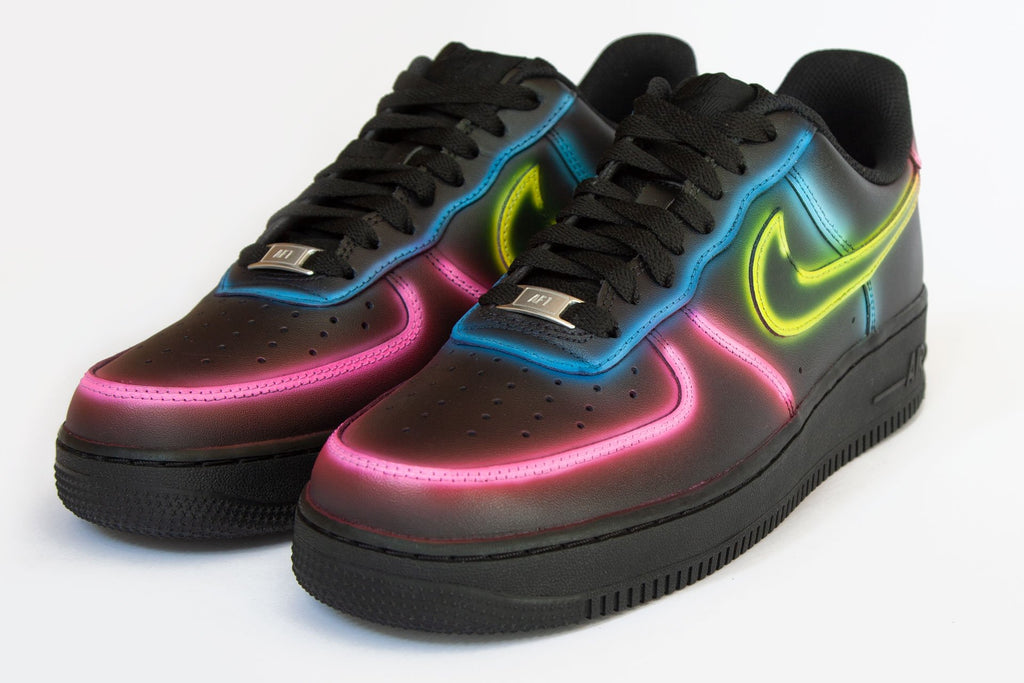 GLOW - Customised Nike Air Force 1 Low - BLOW London