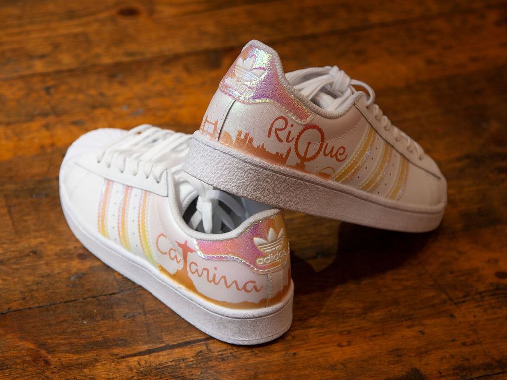 RIO x LONDON - Personalised kids Adidas trainers