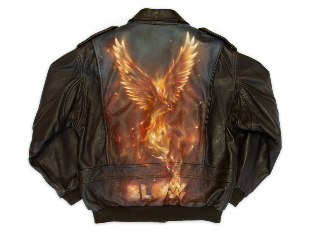 PHOENIX - Upcycled mens leather jacket