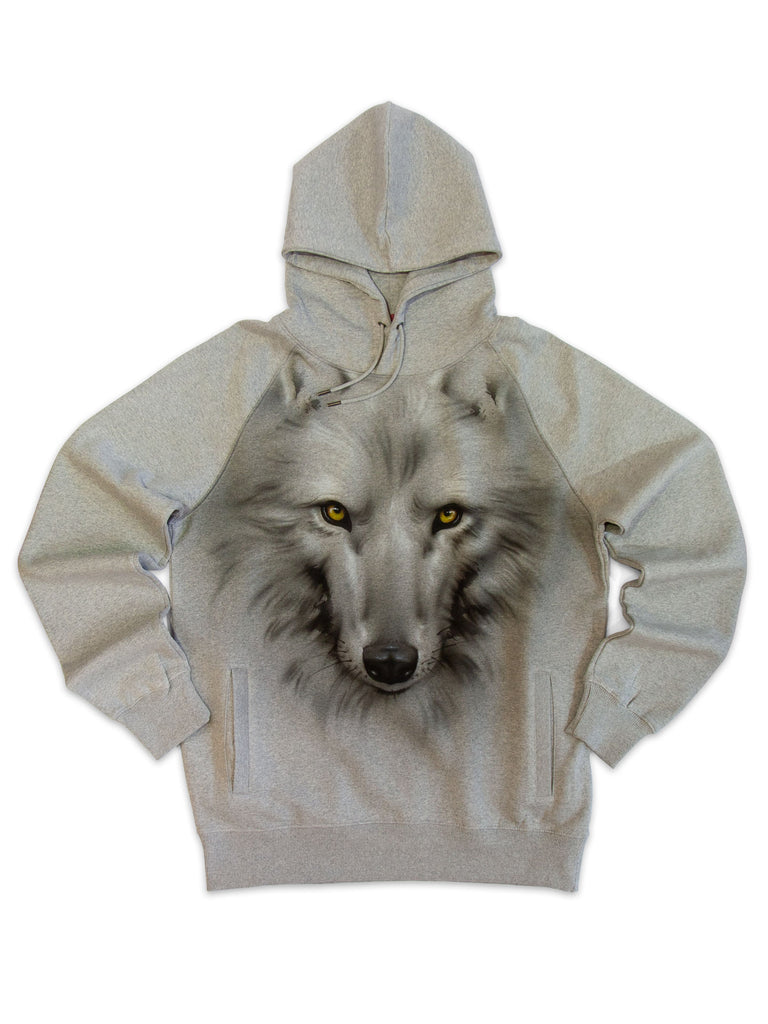 LOBO - Classic heavy unisex raglan pullover hoodie with side pockets