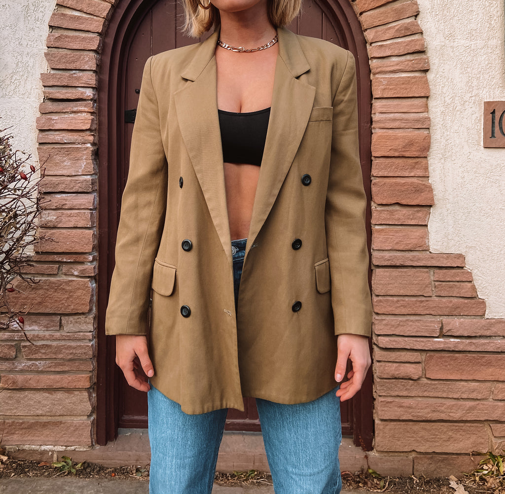 Not Your Dads Vintage Tan Blazer