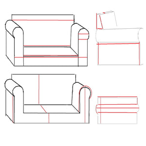 Helpful DIY Slipcover Measurement Chart for Lawson Style Sofa or Chair