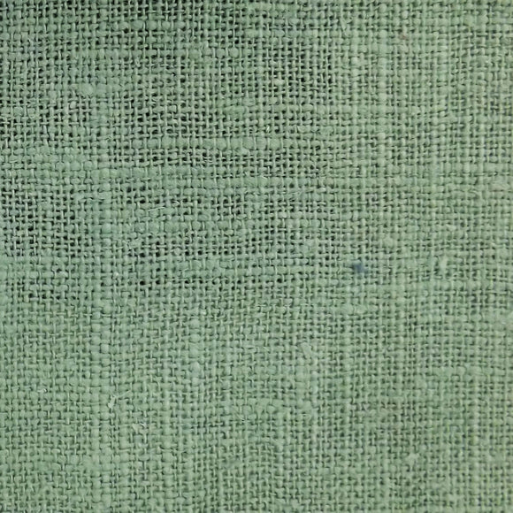 Pure linen upholstery and curtain fabric in teal aqua