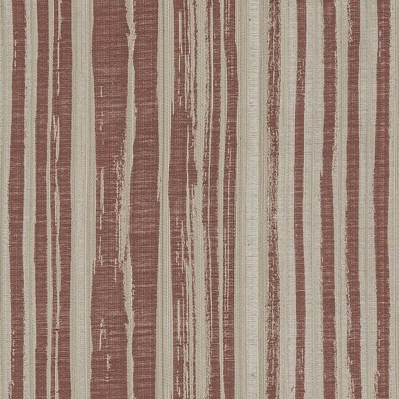 Terracotta abstract stripe couch fabric by the yard or for curtains. cotton blend.