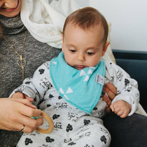 Clouds Drool Bibs -Pair