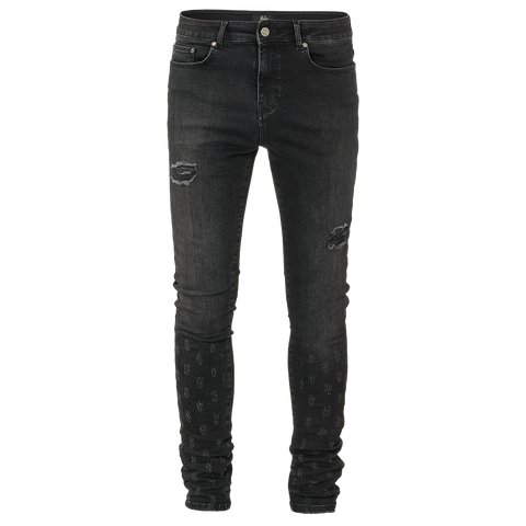 Malelions Jeans Damaged Black