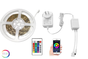 Prism Smart RGBCW LED Strip Light Kit - 5M Strip, Smart Controller, Remote and Power Adapter
