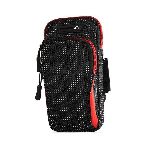 6.5 Inches Sports Bag Armband Case Gym Fitness Running Arm Band Bag Cover Jogging Workout Pouch for Mobile Phone Key Money Card - Fitness Reinforce