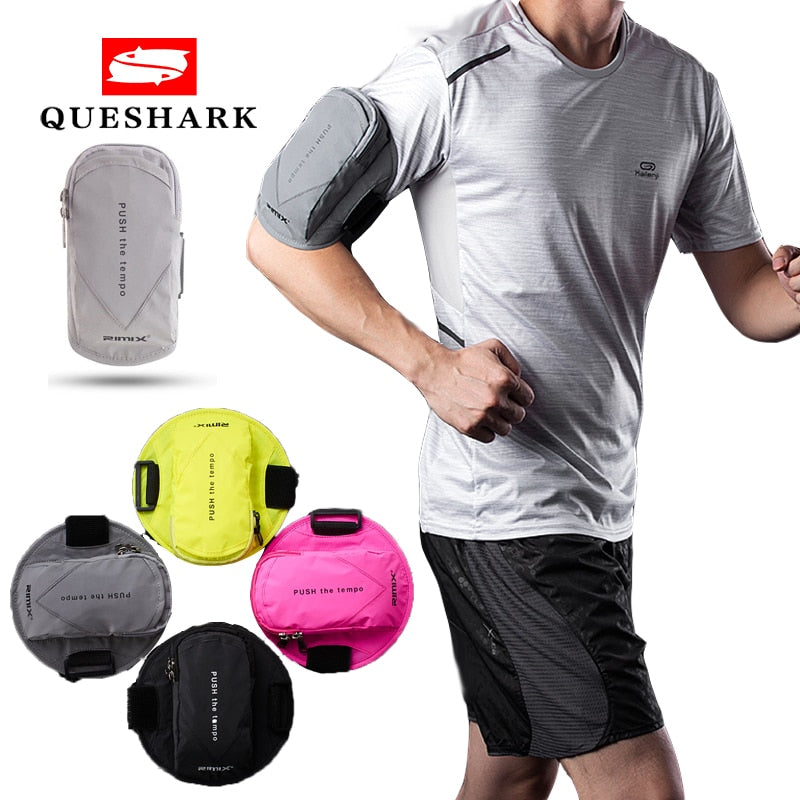 Reflective Gym Fitness Armband Pouch Sport Bag Running Arm Bag Waterproof Mobile Phone Holder Outdoor Sport Arm Wrist Pouch Bag