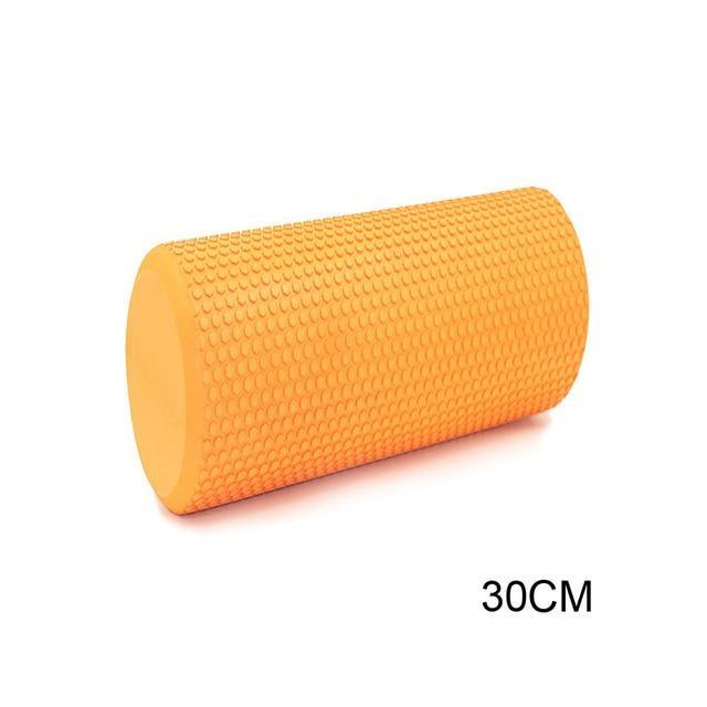 30CM Yoga Foam Roller Block Pilates Foam Roller EVA Muscle Roller Self Massage Tool for Gym Pilates Yoga Fitness Gym Equipment - Fitness Reinforce