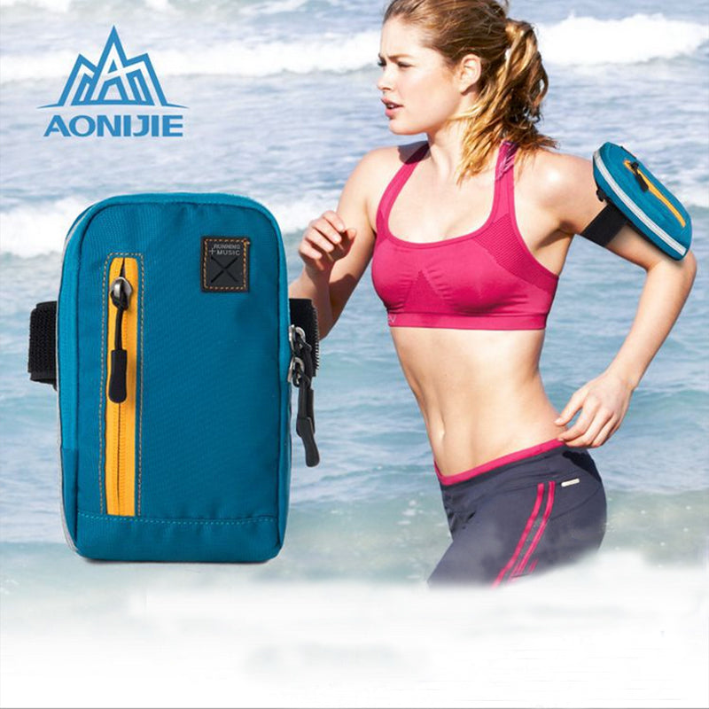 AONIJIE Multifunctional 4 In1 Armband Arm Bag Pouch Pack E845 For Jogging Outdoor Running Gym Fitness Workout Wallet Cell Phone