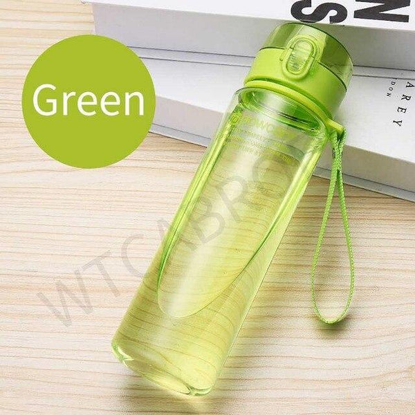1000ml Gourd Sport Shaker Flat Water Bottle For Kitchen Items Creative Bike School Fitness Plastic Healthy Fruit Water Bottles - Fitness Reinforce