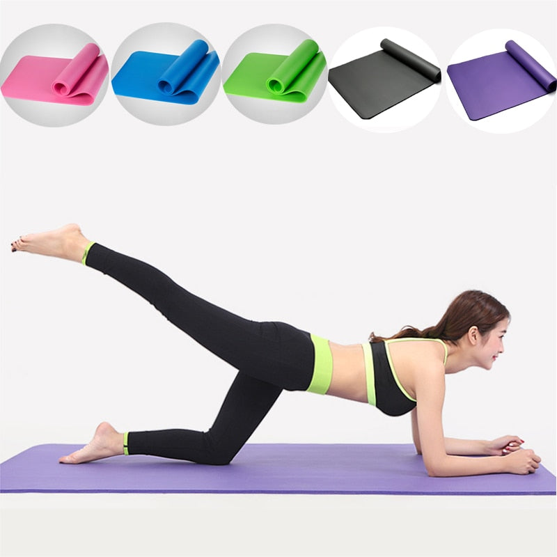 Yoga Mat Thickness 10mm & 15mm Yoga Mats Non-slip Tasteless Fitness Esterilla Pilates Home Exercises Gym Sports Pads 183*61cm