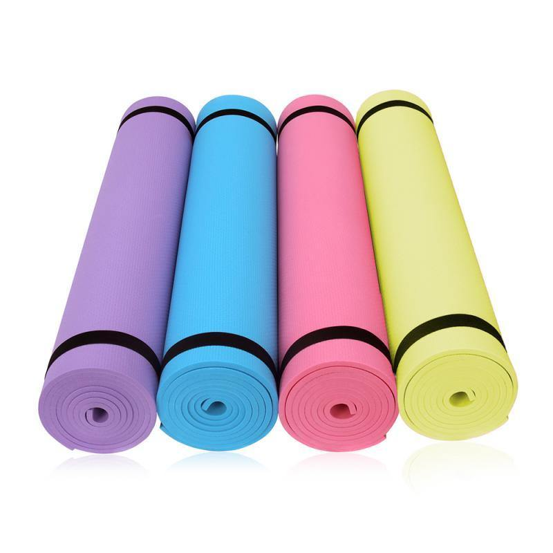 173*61*0.4cm Yoga Mat Anti-slip Blanket PVC Gymnastic Sport Health Lose Weight Fitness Exercise Pad Women Sport Yoga Mat - Fitness Reinforce