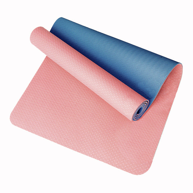 Yoga Mat Non-Slip Mat Single/ double layer Mat  TPE Mat 183*61*6mm Free Bag Suitable For All People