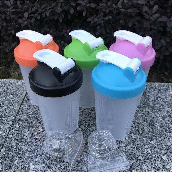 400ml protein powder shake cup direct drinking sports water bottle portable outdoor fitness fruit juice bottle - Fitness Reinforce