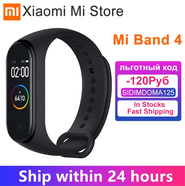 Original Xiaomi Band 4 Original Music Smart band 4 Bracelet Heart Rate Fitness 135mAh Color Screen 50M Waterproof Bluetooth 5.0