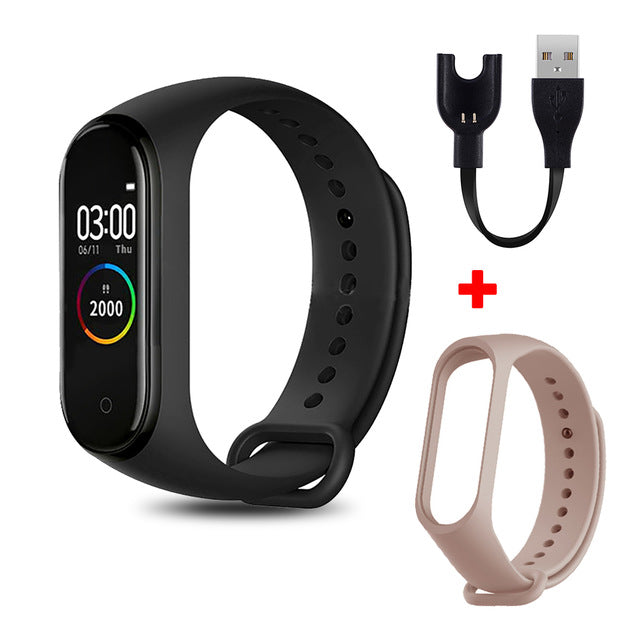 M4 Smart Band Fitness Trcker Sport Bracelet Pedometer Heart Rate Blood Pressure Bluetooth Health Wirstband Waterproof Smartband