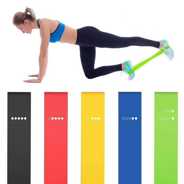 5PCS Yoga Resistance Bands Stretching Rubber Loop Exercise Fitness Equipment Strength Training Body Pilates Strength Training - Fitness Reinforce