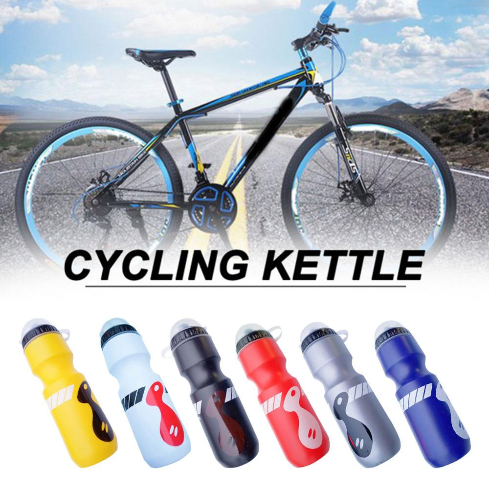 Sports Water Bottle 750ml Plastic Direct  Drinking Bottle With Lid  Outdoor Sports Fitness Cycling Hiking School Water Bottles