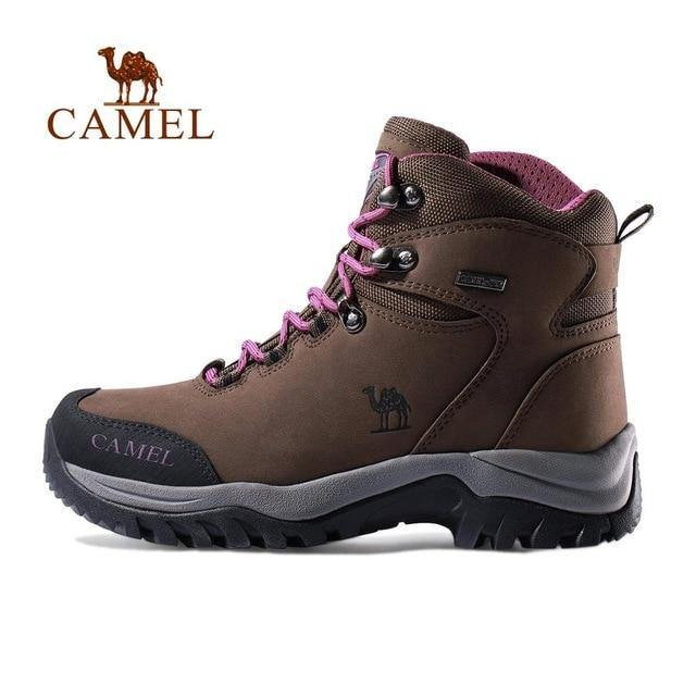 CAMEL Men Women High Top Hiking Shoes 2019 Durable Waterproof Anti-Slip Outdoor Climbing Trekking Shoes Military Tactical Boots - Fitness Reinforce