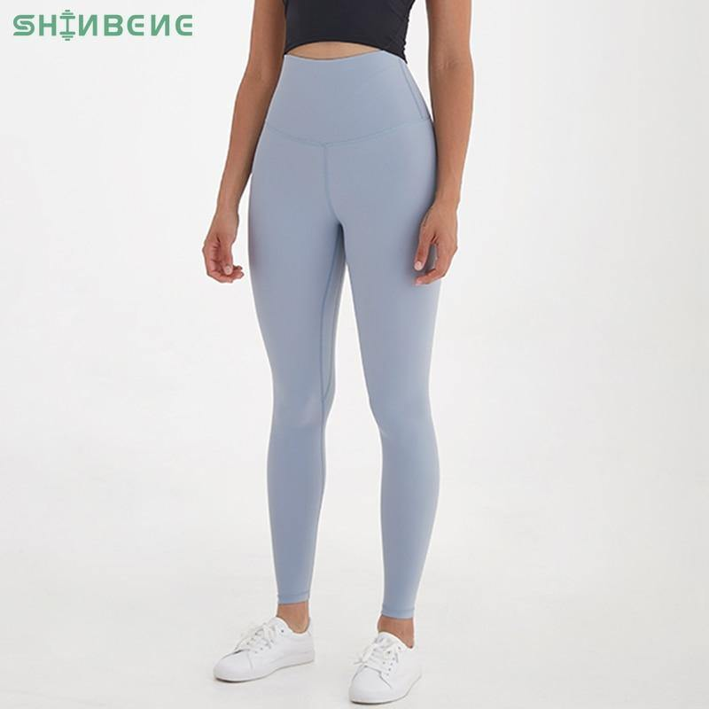 SHINBENE SUPER HIGH RISE Full Length Sport Athletic Fitness Leggings Women Squat Proof Workout Gym Yoga Pants Tights Inseam 27'' - Fitness Reinforce
