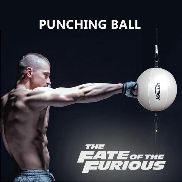 Inflatable Punching Ball PU Leather Boxing Bag Gym Exercise Pear Ball For MMA Reflex Speed Training Fitness Sports Equipment - Fitness Reinforce