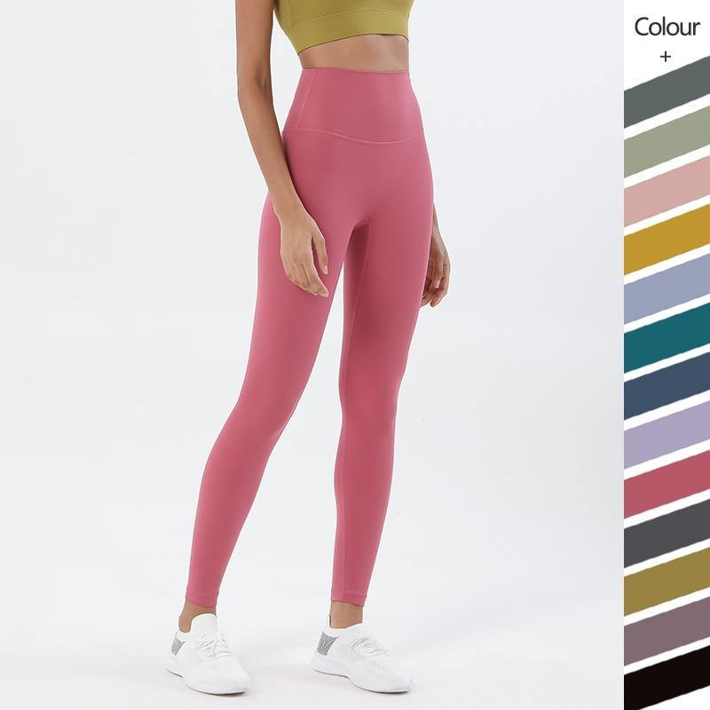 3.0 One-piece cutting Yoga Fitness Pants Soft Naked-Feel Sport Yoga Pants High Waist Gym Jogging Fitness Athletic Legging - Fitness Reinforce
